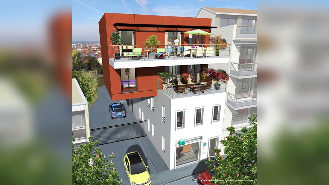 Au coeur du centre-ville Andernos-les-Bains, résidence 4 T3 avec commerce et parking